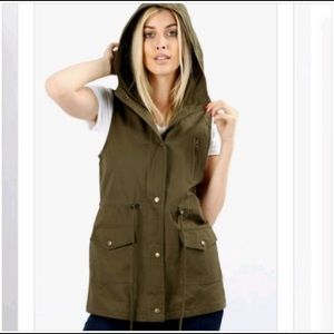 Jackets & Blazers - Hooded Utility Vest